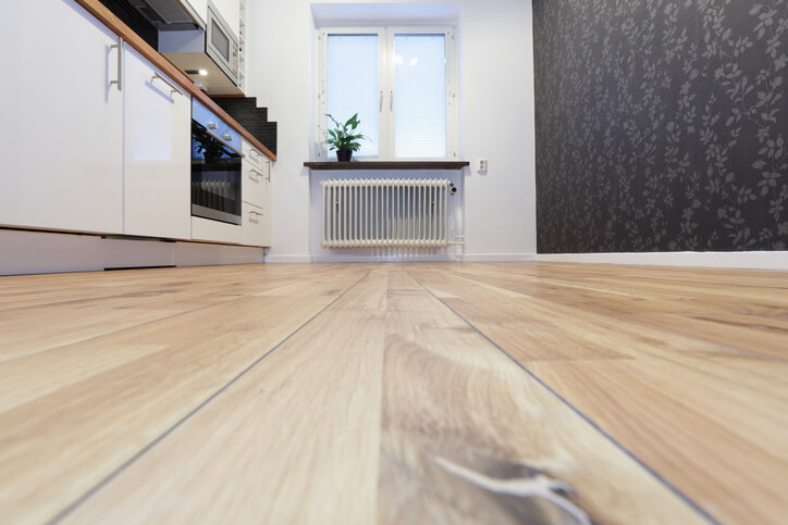 Wooden lino is an affordable way to modernise your kitchen