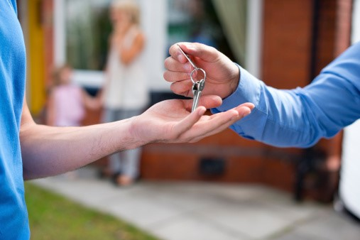 Handing over keys after a house sale