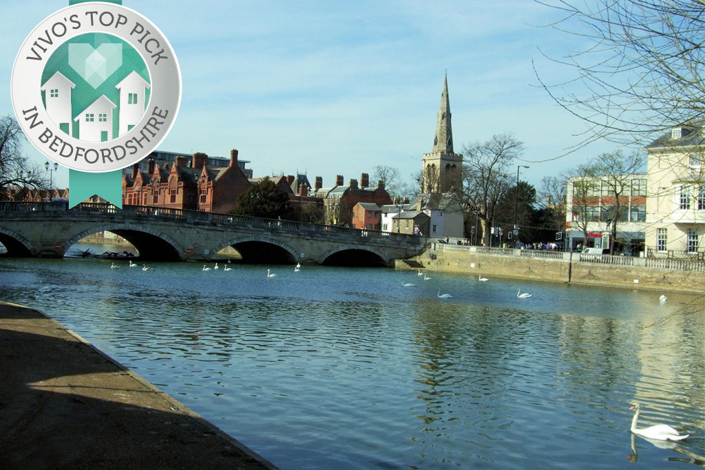 River view of Bedford: best commuter town in Bedfordshire