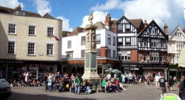 Buttermarket square in Canterbury is just one attraction commuters enjoy