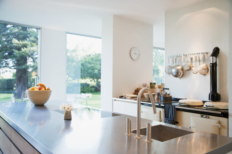 modern kitchen interior after a private house sale