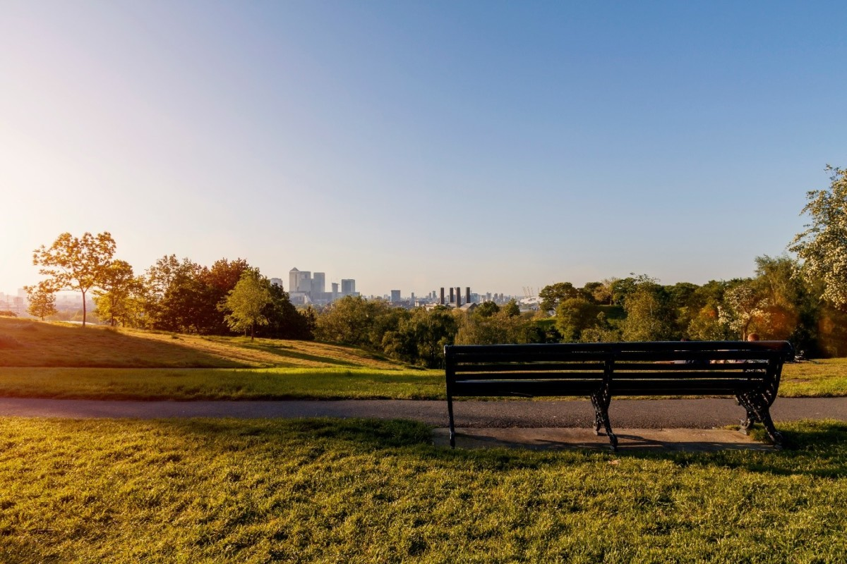 View of Greenwich park, voted friendliest place to live in London