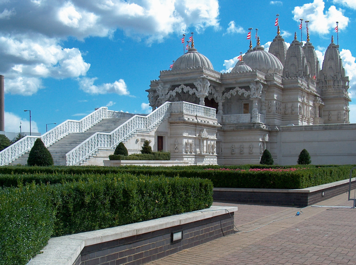 Neasden is home to the largest Hindu temple outside of India
