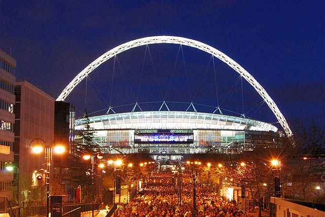 Wembley Stadium for sports and music