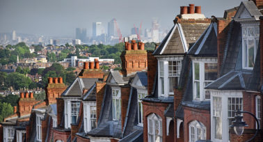 Victorian terraced houses in North London