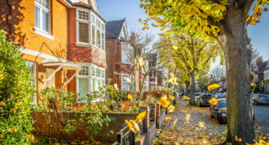 A row of houses in Chiswick, London